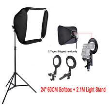 "Studio 24"" Soft Box Flash Speedlite Softbox Diffuser +Light Stand for Speedlight"