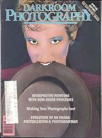Darkroom Photography Magazine Dec 1987 Posterization Montage Gum Printing