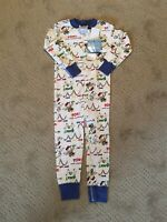 NWT Peanuts By Hanna Andersson Size 90 3T Organic Cotton Baseball Pajamas Snoopy
