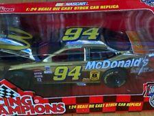 1998 Bill Elliott McDonalds Gold 1/24 Scale Racing Champions Diecast Nascar Ford