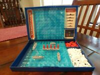 Vintage Milton Bradley BATTLESHIP Replacement Blue Board Game Kit Tray & Parts