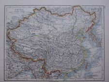 1918 MAP CHINA TIBET MONGOLIA MANCHURIA
