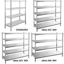 Stainless Steel Shelving Unit Storage Shelves 45 Tier Heavy Duty Kitchen Shelf