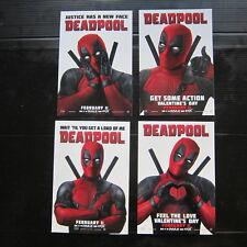 DEADPOOL Movie - Official Studio Promo Postcard COMPLETE SET NOT PROP MARVEL