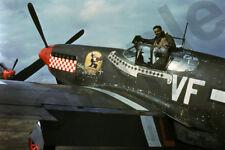 aviation art pilot photo postcard colour WW2 DON GENTILE USAAF P51 MUSTANG
