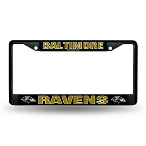 Baltimore Ravens Authentic Metal BLACK License Plate Frame Auto Truck Car NWT
