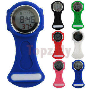New Multi-function Digital Silicone Rubber Nurse Doctor Watch Fob Watch UK