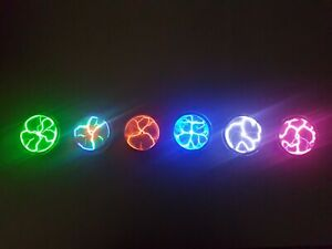 2 pack LED Light Up Plasma Disk. Festivals Parties Gifts Cosplay Steampunk works