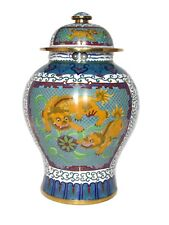 "Rare Vintage Chinese Inches 15"" Tall Bronze Cloisonne"