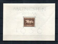 GERMANY1936 SCOTT# B90. HORSE RACE SOUVENIR SHEET.  MNH, OG.