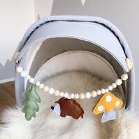 Cartoon Hedgehog Mushroom Felt Pram Garland Baby Teething Rattles Stroller Chain