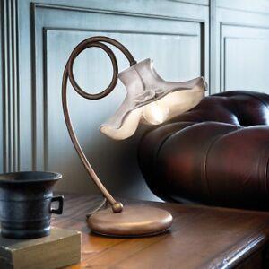 Bedside Lamp Lumetto Classic White Ceramic Rust