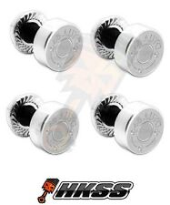4 Silver Billet Aluminum License Plate Frame Tag Bolts - 45 AUTO BULLET S PSD