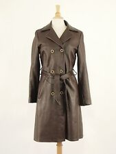 1970s CUSTOM COAT Vintage Deerskin Double-breasted Trench Coat Womens S