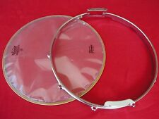 """1970 VINTAGE ROGERS 14"""" DYNA-SONIC SNARE DRUM BOTTOM RIM+REMO DRUM HEAD USA MADE"""