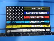 First Responder Decal sticker flag hero thin line vinyl support window graphic
