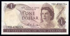 """New Zealand: 1968 $1 Wilks QEII """"Y90"""" STAR REPLACEMENT. P163br VF Cat $360"""