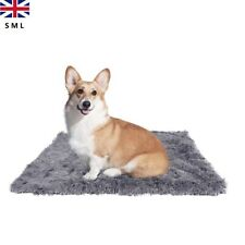 More details for plush dog blanket washable calming self warming plush fluffy nesting beds  s m l
