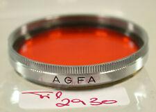 Original Agfa Orange Filter Lens 37mm 37Ø Germany 2930/9