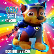 "New 36"" XL PAW PATROL CHASE BIRTHDAY PARTY BOY PUPPY DOG SUPPLY FOIL BALLOONS"