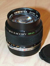 OLYMPUS OM ZUIKO 85mm F2 LENS LATER MC VERSION