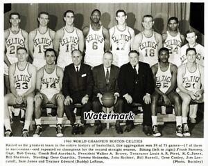 NBA 1960 World Champion Boston Celtics Team Picture  8 X 10 Photo Picture