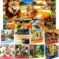 JIGSAW FAMILY PUZZLES 100 300 500, 1000 Pcs Variety Animals, Towns Fun