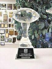 Large Crystal Fantasy Football Ffl Trophy Satin Lined Presentation Box M*Cry149