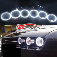 6x LED White Devil Demon Angel Eye kit Halo Ring KIT For Alfa Romeo 159 2005-11
