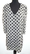 Green Dragon Black Gray Polka Dot Tunic Dress Sz L