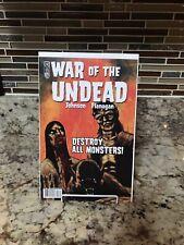War of the Undead #3 Werewolf, Frankenstein, Dracula, Horror IDW  Low Print