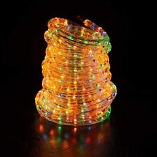 Multi-Color Mixed Tubed LED Rope Light 20ft 2-Wire Accent Christmas Decorations