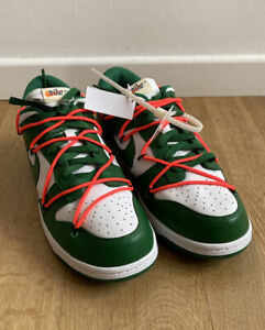 Nile X OFF WHITE Dunk Low Pine Green 10.5US CT0856-100 DS