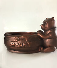 Disneys Winnie The Pooh Terracotta Hunny Flower Pot Planter Painted Bronze