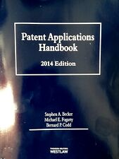 Patent Applications Handbook 2014 by Stephen A. Becker (2014, Paperback) West