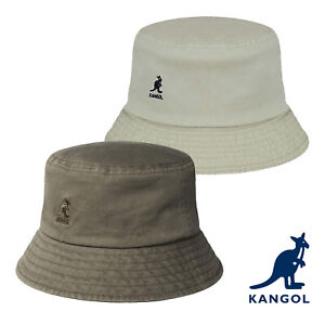 Kangol Washed Casual Iconic Embroidered Logo Comfortable Cotton Bucket Hat
