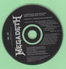 Megadeth - Limited Edition Live - 6 Songs...30 Minutes Of Music - Rare Promo CD