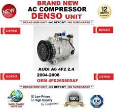 DENSO AC Compressor AUDI A6 4F2 2.4 2004-2008 BRAND NEW UNIT OEM 4F0260805AF