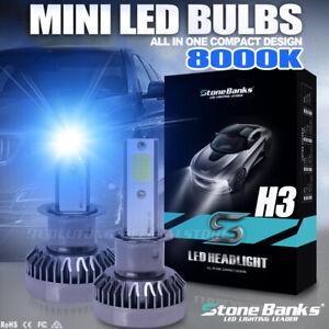 8000K Mini H3 LED Headlight Bulb Foglight 110W 30000LM Light Headlamp Blue