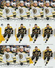 CHARLIE MCAVOY 24 CARD LOT 18-19 SP AUTHENTIC HOCKEY # 59 UPPER DECK # 13 BRUINS