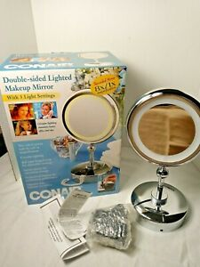 2002 Conair Classique Collection 8x Magnification Mirror Halo Lighting 2 sided