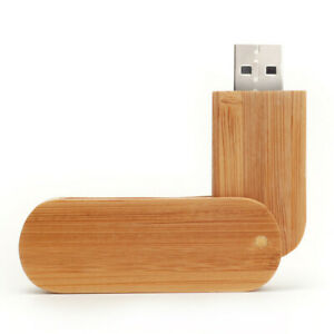 8GB Rotate Bamboo wood USB 2.0 Flash drive pendrive memory stick