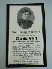 Totenzettel TAIBRECHTING 1931 // Theresia EBERL, Hofbauerstochter (36 J.)
