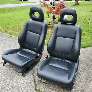 1994 - 2001 Acura Integra SE Black Leather Front Seats OEM LS GS GSR
