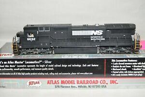 HO scale Atlas Silver Norfolk Southern Ry GE -8-40C locomotive train DCC SOUND