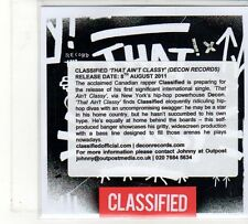 (FU834) Classified, That Ain't Classy - 2011 DJ CD