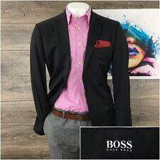 Hugo Boss Pasolini Movie Mens Dark Gray Wool Jacket Sport Coat Blazer 42L EUC