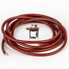 """72"""" Leather Belt Vintage Treadle Parts Peddling For Singer Sewing Machine 3/16''"""