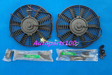 Universal Two 12 inch 12V volt Electric Cooling Fan Thermo Fan + Mounting kits