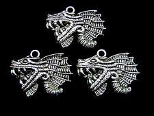 5 x breloques Dragon d'argent tibétain / pendentifs 37mm bijoux artisanaux pendentif Y180